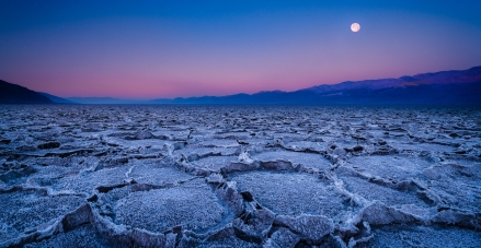 Setting Moon, Badwater