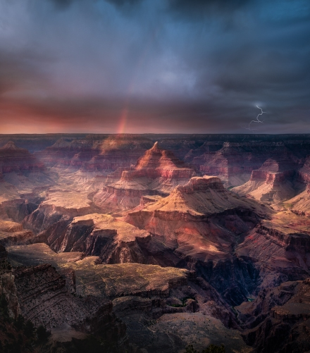 Mather Point summer storm.