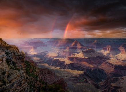Rainbow, Mather Point.